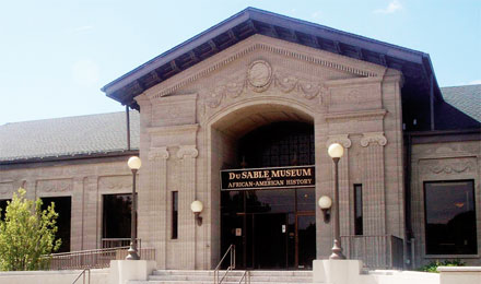 Entrance to the DuSable Museum, Chicago, Illonois