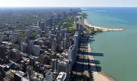 Experience the Chicago Skyline and Lakefront from 1000 feet at the 360 Chicago