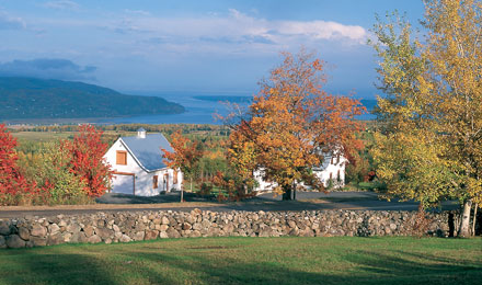 Charlevoix Region of Quebec, Canada in the Fall