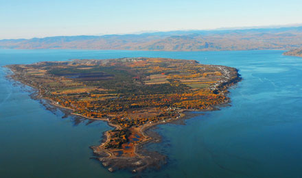 Aerial View of Island of Coudres in Charlevoix