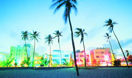 Famous South Beach in Miami, Florida