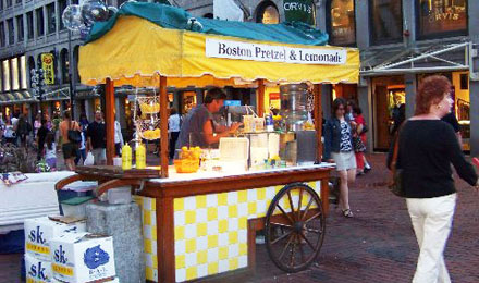A Street Food Vendor at Faneuil Hall Marketplace