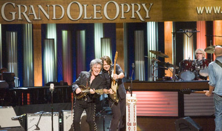 Country Musicians at the Grand Ole Opry Show