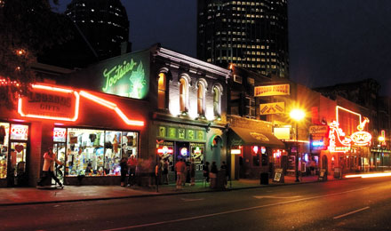 Honky Tonk Row in Nashville