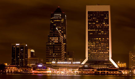 Night View of Downtown Jacksonville, Florida