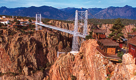 See the highest suspension bridge at Royal Gorge