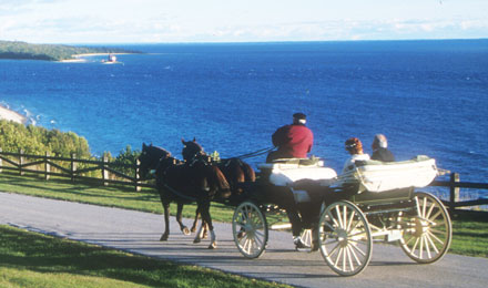 Horse and Buggy on Mackinac Island MI