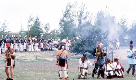 A Reenactment in Mackinaw Crossing, MI