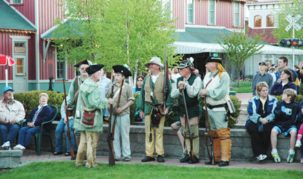 A Historical Reenactment in Mackinaw Crossing