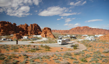 Campers Visiting Valley of Fire State Park
