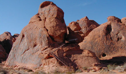 Eroded Sandstone Formation in Valley of Fire