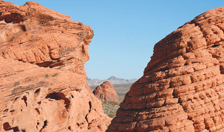 Eroded Sandstone in Valley of Fire State Park