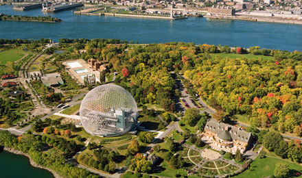 Aerial View of the Montreal Biosphere