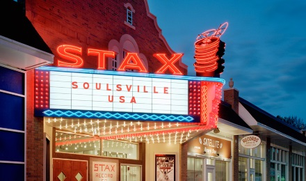 On the original site of Stax Records