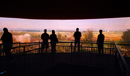 View of  the Gettysburg Cyclorama Painting
