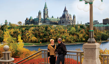 A Man and Women Enjoying Ottawa's Scenic Views