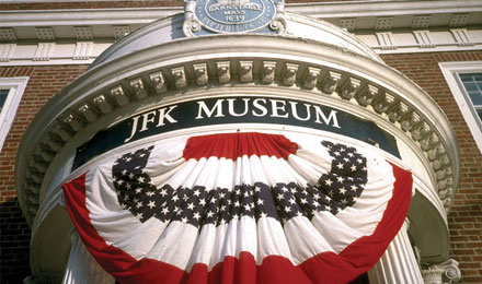 Entrance to the John F Kennedy Museum