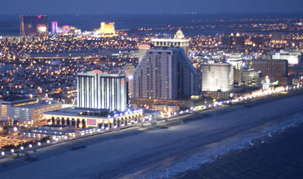 Atlantic City Light at Night