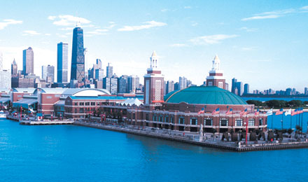 View of Navy Pier in chicago