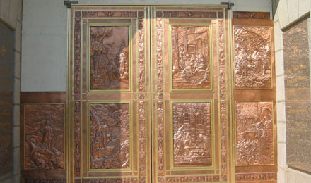 Copper Doors at the Albert Gilles Museum