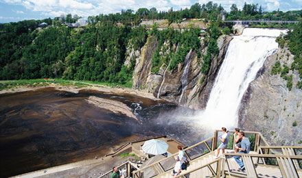 Tour Montmorency Falls in Quebec, Canada