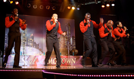 Singers and Dancers with the Soul of Motown Show