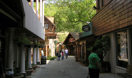 A Woman Shopping in Historic Downtown Gatlinburg