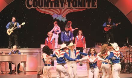 Fast-paced singing, dancing, and comedy in the Country Tonite show