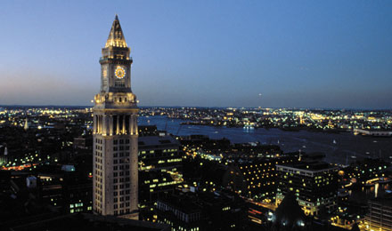 Clock Tower in Boston, Massachusetts
