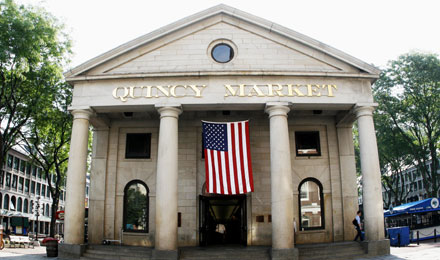 Entrance to Quincy Market, Boston, Massachusetts