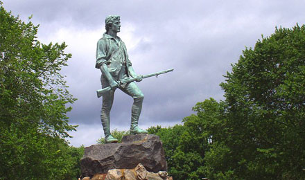 Minute Man Statue at Minuteman National Park