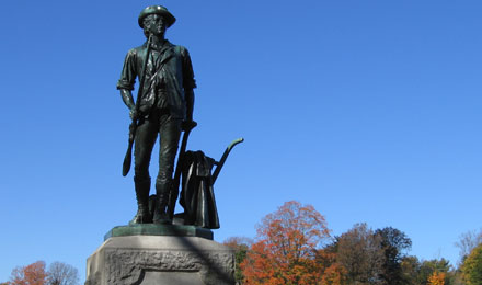 Statue at Minuteman National Park, Boston MA
