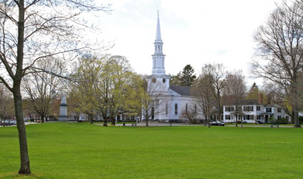 The Lexington Battle Green, or Lexington Common MA