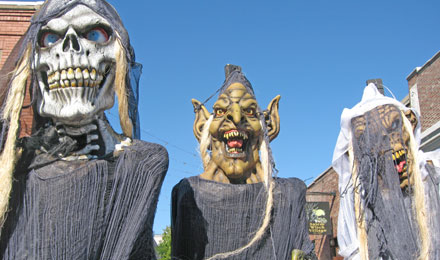 Statues Outside the Salem Witch Museum in Salem
