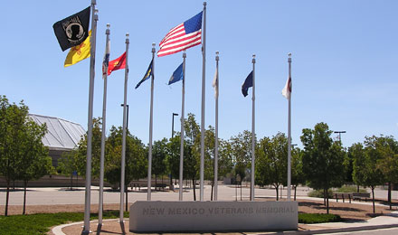 New Mexico Veterans Memorial Flags