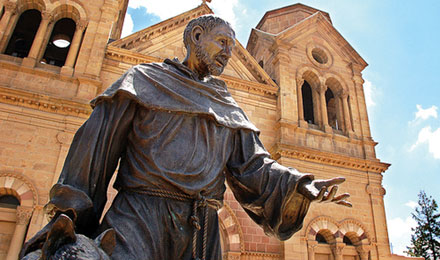 Statue outside St. Francis Cathedral, Santa Fe