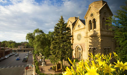 View of the St. Francis Cathedral in Santa Fe