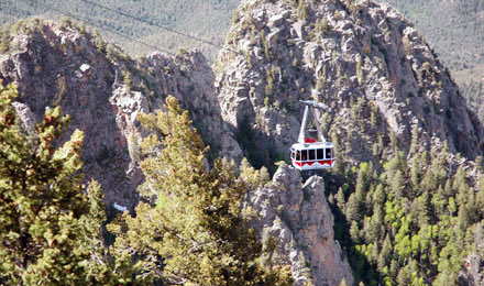 Sandia Peak Tramway Aerial Ride Distant View