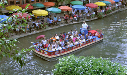 A San Antonio River Boat on the San Antonio River