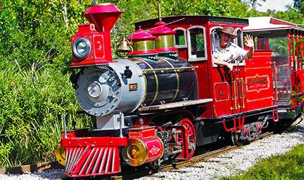 Enjoy the Gatorland Express aduring your visit to Gatorland