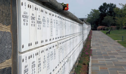 Columbarium Wall at Arlington National Cemetery