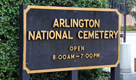 Entrance to the Arlington National Cemetery