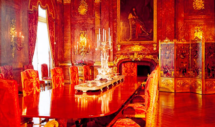 Inside of Marble House Mansion