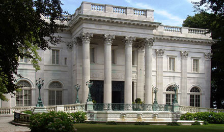 Outside of Marble House Mansion