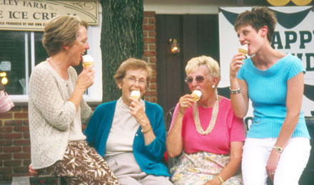 A Group of Ladies Eating Ice Cream