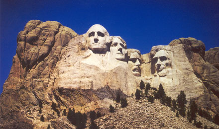Mount Rushmore National Memorial near Keystone SD