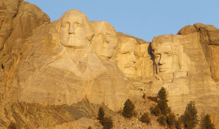 Mount Rushmore in Black Hills South Dakota