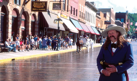 A Gunslinger on Deadwood's Main Street