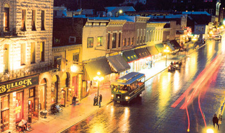 Main Street at Night, Deadwood, South Dakota