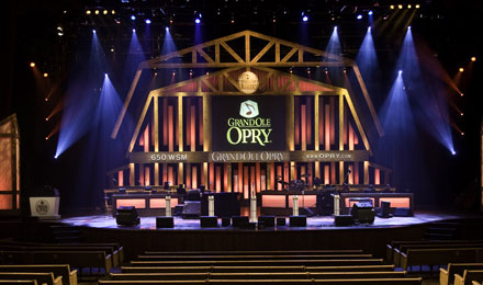 Inside the Grand Ole Opry in Nashville
